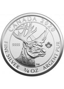 Canada 2020 Woodland Caribou   Silber 3/4 oz