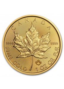 Canada  2021 Maple Leaf  Gold 1 oz