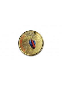 Kamerun 2020  Cameroon Mandrill Gold 1 oz  PP mit Farbe