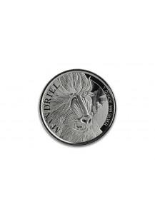 Kamerun 2020  Cameroon Mandrill Silber 1 oz