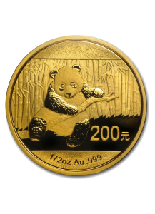 China 2014   Panda  Gold 1/2 oz