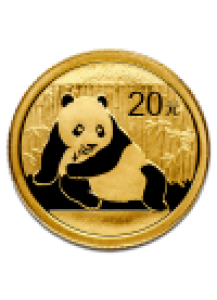 China 2015  Panda  Gold 1/20  oz