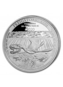 Kongo  2020 Plesiosaurus - Dinosaurier  Silber 1 oz  Congo