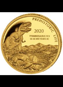 Kongo  2020 T-Rex  - Dinosaurier Tyrannosaurus Rex Gold 0,5 g  Congo