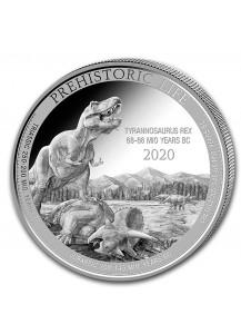 Kongo  2020 T-Rex  - Dinosaurier Tyrannosaurus Rex  Silber 1 oz   Congo