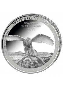 Kongo  2021 ARCHAEOPTERYX - Dinosaurier  Silber 1 oz  Congo