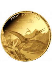 Kongo  2021 Quetzalcoatlus - Dinosaurier  Gold 0,5 g  Congo