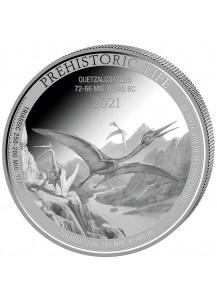 Kongo  2021  Quetzalcoatlus - Dinosaurier  Silber 1 oz  Congo