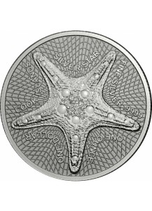 Cook Island 2019 Silver Star - Seestern Silber 1 oz