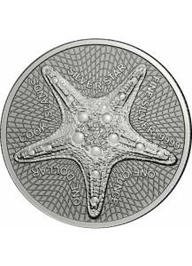Cook Island 2021 Silver Star - Seestern Silber 1 oz