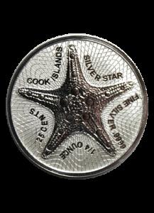 Cook Island 2021  Seestern - Silver Star  Silber 1/4 oz