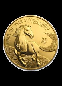 UK 2014  Jahr des Pferdes  Lunar Serie  Gold 1 oz