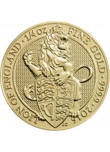 GB 2016   Queens Beast  Lion - Löwe Gold 1/4 oz