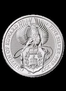 GB 2017   Queens Beast  The Griffin - Greif von Edward III.  Silber 2 oz
