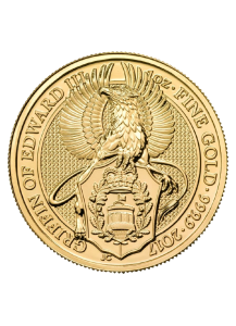 GB 2017   Queens Beast  Griffin - Greif Gold 1 oz