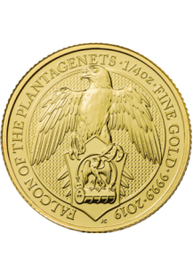GB 2019   Queens Beast  Falcon  Gold 1/4 oz