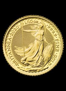 Großbritannien 2020  Britannia  Gold 1/10 oz