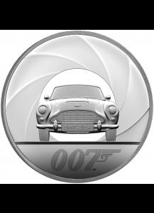 Großbritannien 2020  JAMES BOND 007 - Aston Martin Silber 1 KILO PP