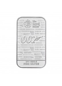 GB 2020  JAMES BOND 007 NO TIME TO DIE Silberbarren 1 oz - Großbritannien