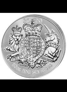 Großbritannien 2020  The Royal Arms  10 oz  Silber