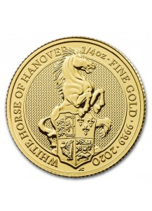 GB 2020   Queens Beast  White Horse of Hannover  Gold 1/4 oz