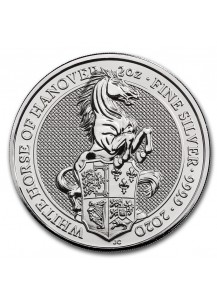 GB 2020   Queens Beast  The White Horse of Hannover  Silber 2 oz