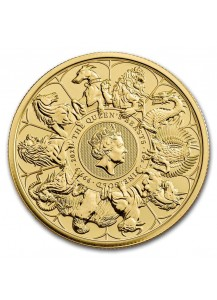 GB 2021   Queens Beast COMPLETER COIN Gold 1 oz