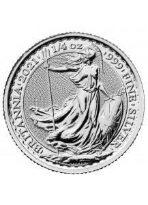 Großbritannien 2021  Britannia  Silber 1/4  oz