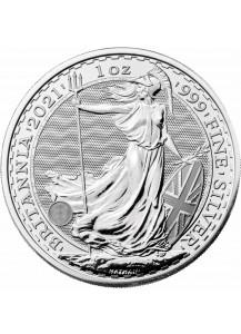 Großbritannien 2021  Britannia  Silber 1 oz