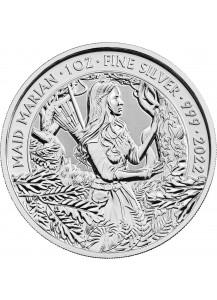Großbritannien 2022  Maid Marian - Myths and Legends Silber 1 oz