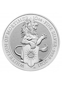 GB 2021   Queens Beast  White Lion of Mortimer  Silber 10 oz
