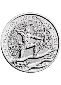 Großbritannien 2021  Robin Hood - Myths and Legends Silber 1 oz