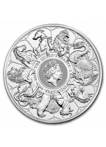 GB 2021   Queens Beast  COMPLETER COIN  Silber 1 Kilo