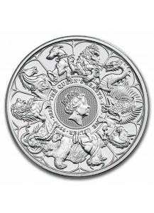 GB 2021   Queens Beast  COMPLETER COIN  Silber 2 oz