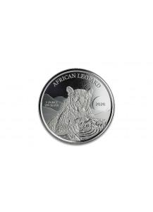 Ghana 2020  Leopard Silber 1 oz