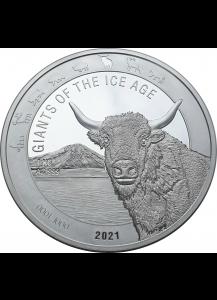Ghana 2021 Auerochse - Giants of the Ice Age  Silber 1 Kilo