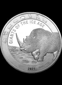 Ghana 2021 Wollnashorn - Giants of the Ice Age  Silber 1 Kilo