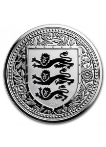 Gibraltar 2018   Royal Arms of England Silber 1 oz  BLACK - Schwarz Reverse Proof