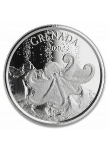 Grenada 2020  Octopus - Diving Paradise  EC8 Serie Silber 1 oz