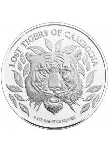 Kambodscha 2022  Indo Chinesischer TIGER Silber 1 oz Cambodscha