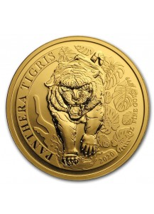 Laos 2020  TIGER - PANTHERA TIGRIS  Gold 1 oz