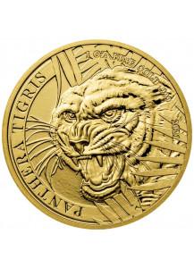 Laos 2021  TIGER - PANTHERA TIGRIS  1 oz Gold