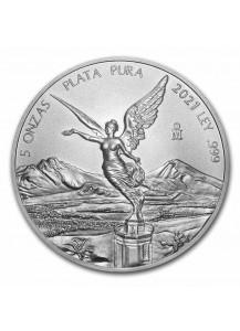 Mexiko 2021  Libertad Silber 5 oz
