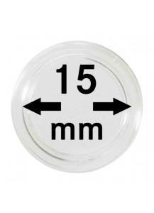 MÜNZKAPSELN  INNEN-Ø   15 mm    10er Packung