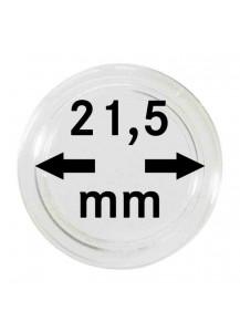 MÜNZKAPSELN  INNEN-Ø   21,5 mm    10er Packung
