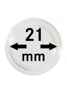 MÜNZKAPSELN  INNEN-Ø   21 mm    10er Packung