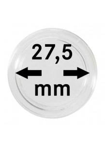 MÜNZKAPSELN  INNEN-Ø   27,5 mm    10er Packung