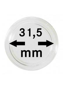 MÜNZKAPSELN  INNEN-Ø   31,5 mm    10er Packung