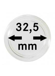 MÜNZKAPSELN  INNEN-Ø   32,5 mm    10er Packung