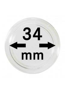 MÜNZKAPSELN  INNEN-Ø   34 mm    10er Packung